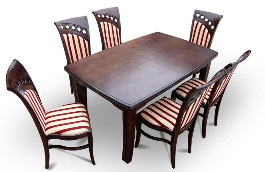 """Zestaw """"ALICE"""" stół + 6 krzeseł"""