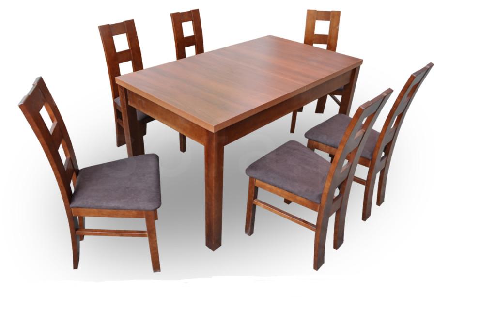"""Zestaw """"DEI"""" stół + 6 krzeseł"""