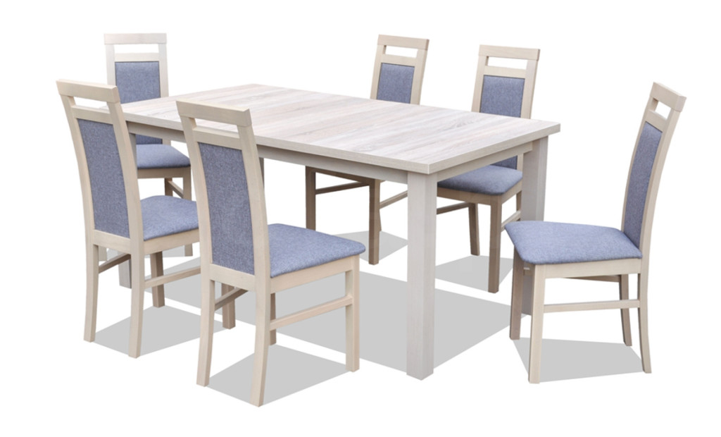 """Zestaw """"NIL"""" stół + 6 krzeseł"""