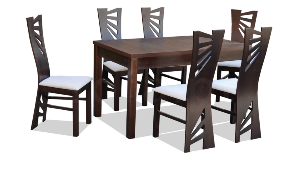 """Zestaw """"LUNA"""" stół + 6 krzeseł"""