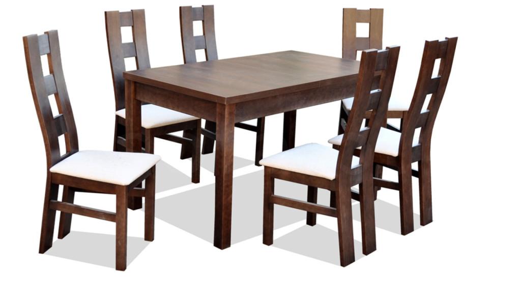 """Zestaw """"FOX"""" stół + 6 krzeseł"""