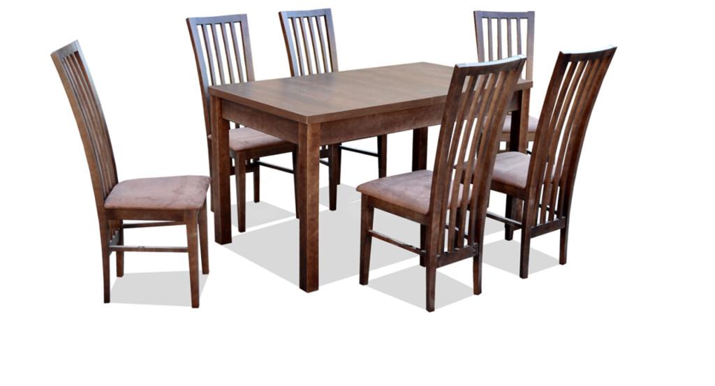 """Zestaw """"GIF"""" stół + 6 krzeseł"""