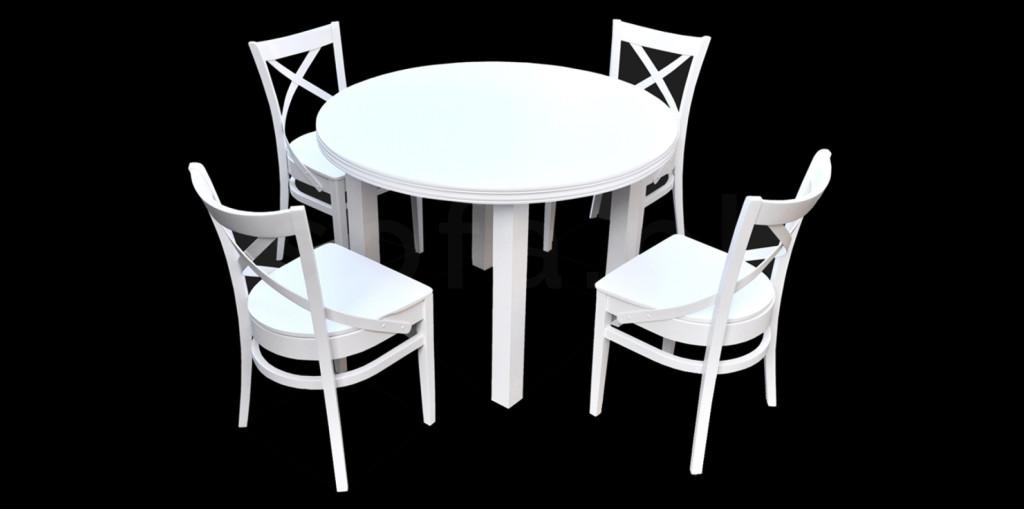 """Zestaw """"LIT"""" stół + 4 krzesła"""