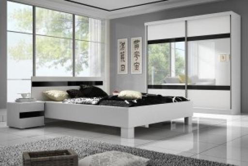 """Zestaw sypialniany """"LIT 203"""" szafa + łóżko + stolik"""