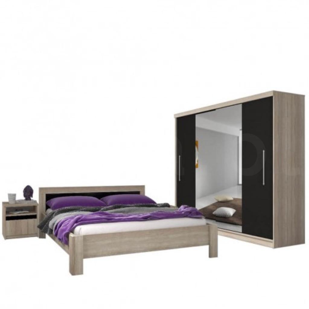 """Zestaw sypialniany """"GLORIA 204"""" szafa + łóżko + stolik nocny"""