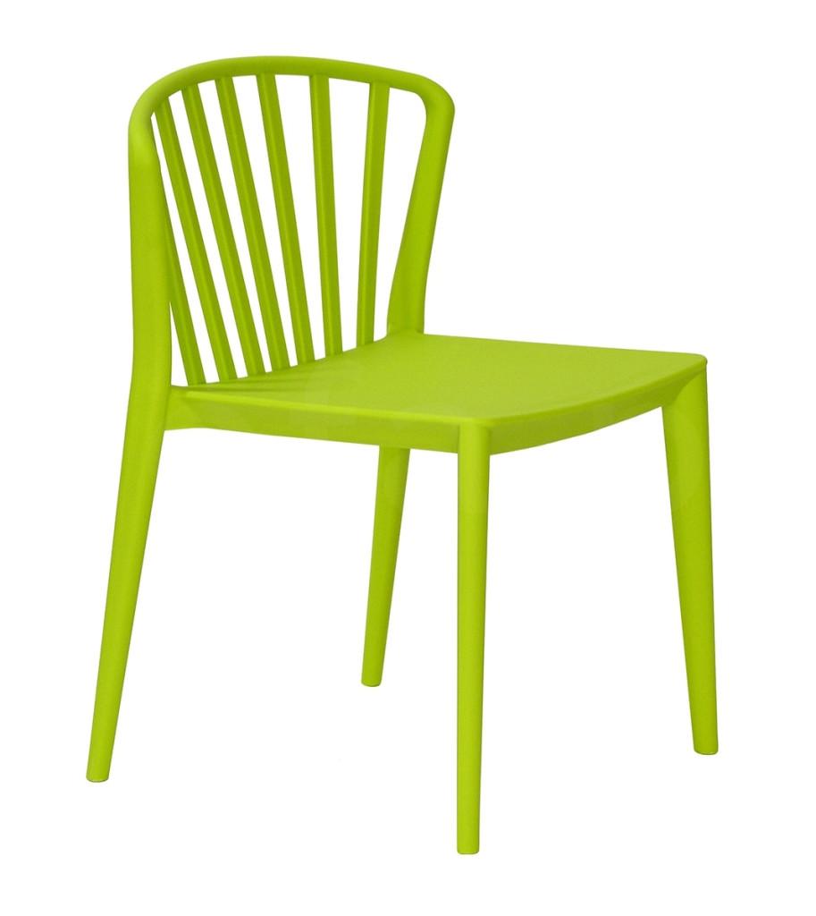 Krzesło GAMMA zielone - polipropylen