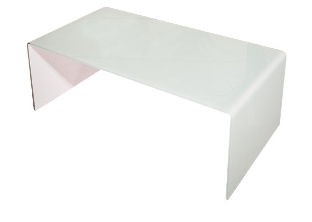 Stolik szklany PRIAM A biały - szkło białe