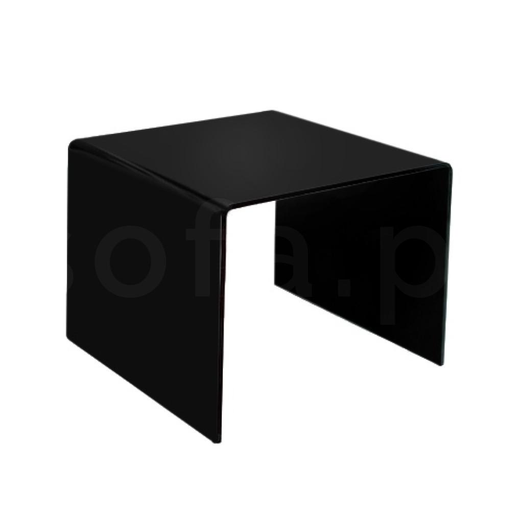 Stolik szklany PRIAM B czarny - szkło lakierowane