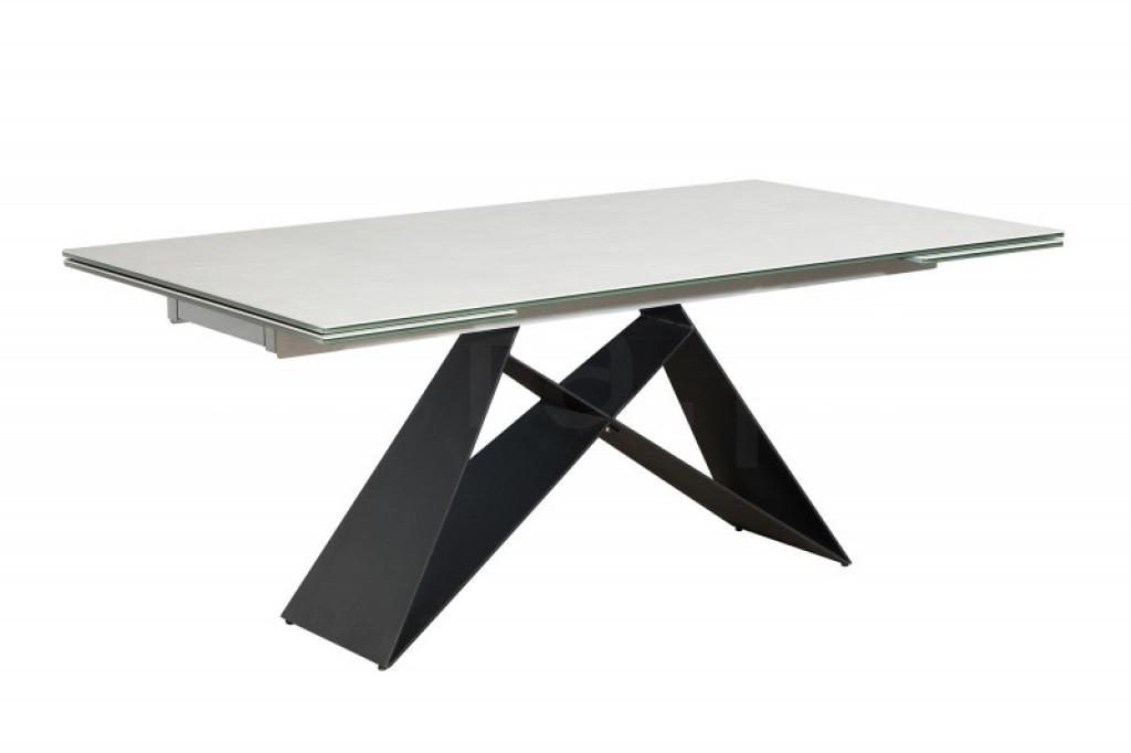 Stół rozkładany PROMETHEUS cement - blat ceramiczny,podstawa metalowa