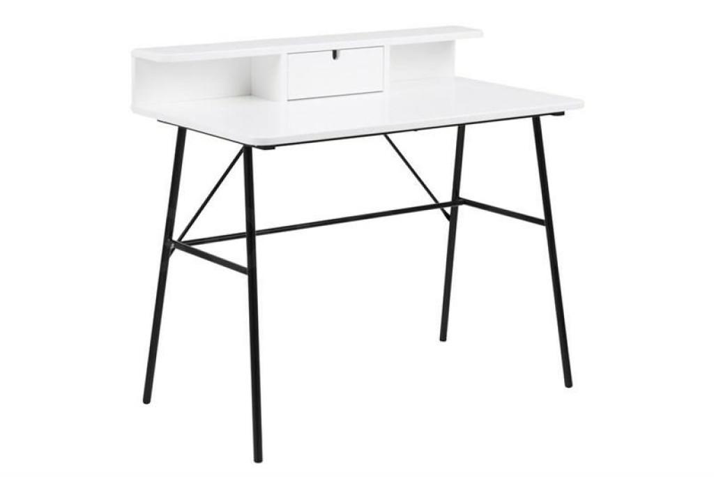 ACTONA biurko PASCAL białe - MDF, metal