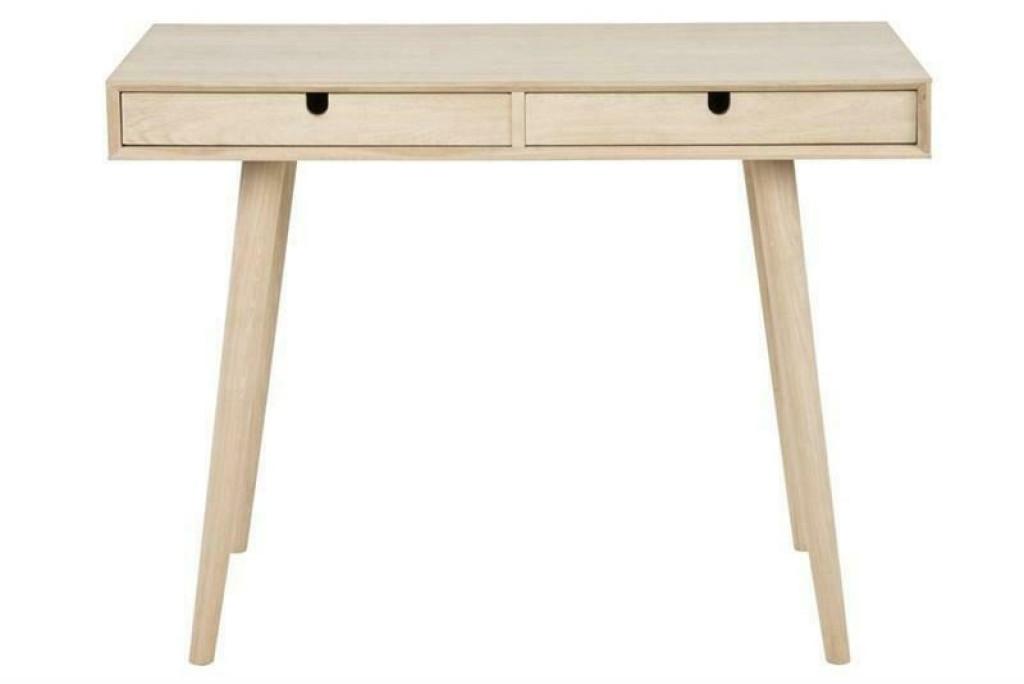 ACTONA biurko CENTURY dąb bielony - MDF, drewno naturalne
