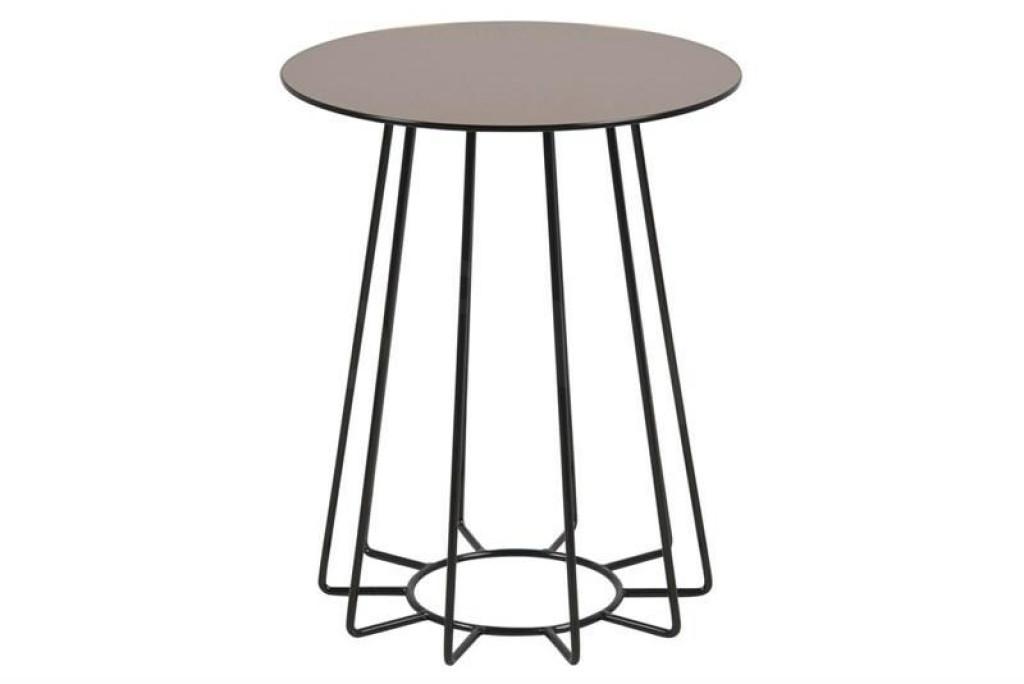 ACTONA stolik kawowy CASIA brązowy - szkło, czarna podstawa