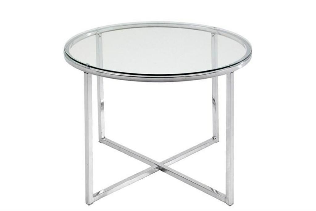 ACTONA stolik kawowy CROSS - szkło, chrom