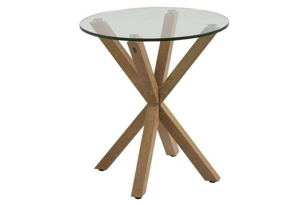 ACTONA stolik kawowy HEAVEN dąb - szkło, drewno dębowe