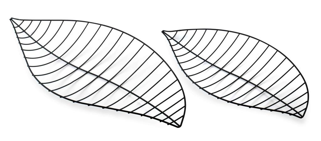 CEDRIC Kpl.2 liści dekoracyjnych 46x23x ,5/54,5x28,5x4,5cm