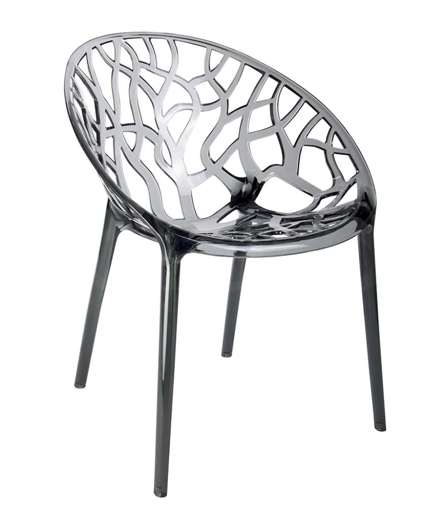 Krzesło KORAL dymione - poliwęglan