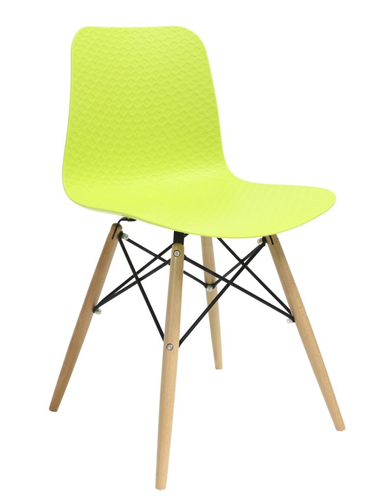 Krzesło KRADO DSW PREMIUM zielone - polipropylen, podstawa bukowa