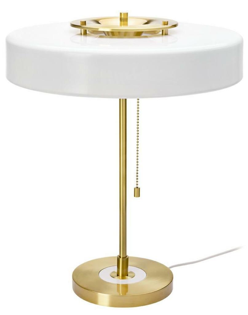 Lampa biurkowa ARTE biało-złota - aluminium, metal