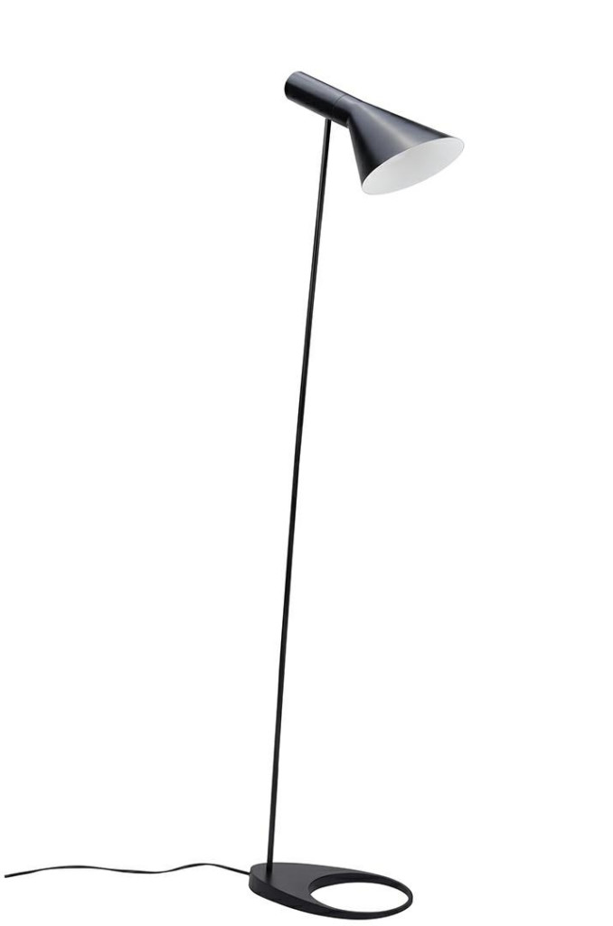 Lampa podłogowa FONO czarna - aluminium