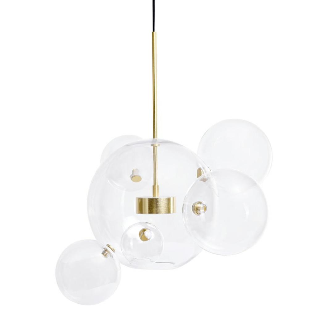 Lampa wisząca CAPRI 6 złota - LED, aluminium, szkło