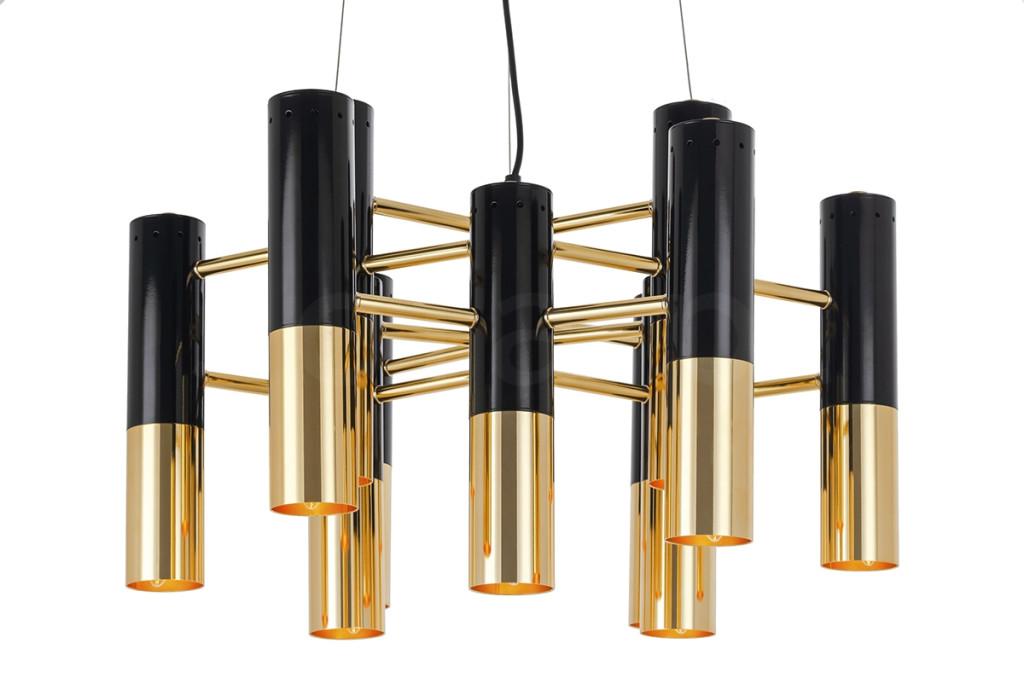 Lampa wisząca LUNETTE czarno-złota - metal