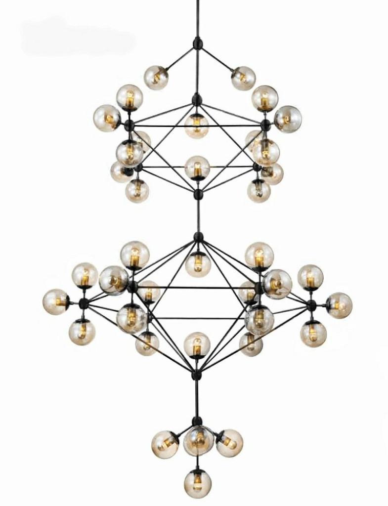 Lampa wisząca PLANETARIO 41 - klosze bursztynowe