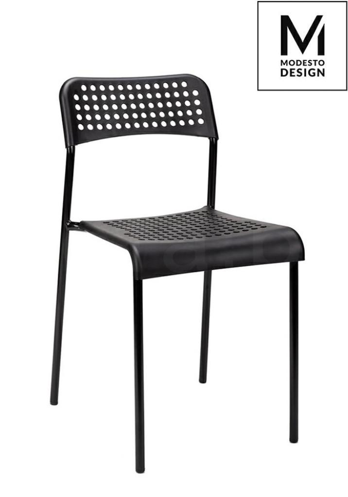 MODESTO krzesło DAVIS czarne - polipropylen, metal