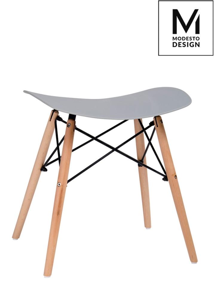 MODESTO stołek BORD szary - polipropylen, podstawa bukowa