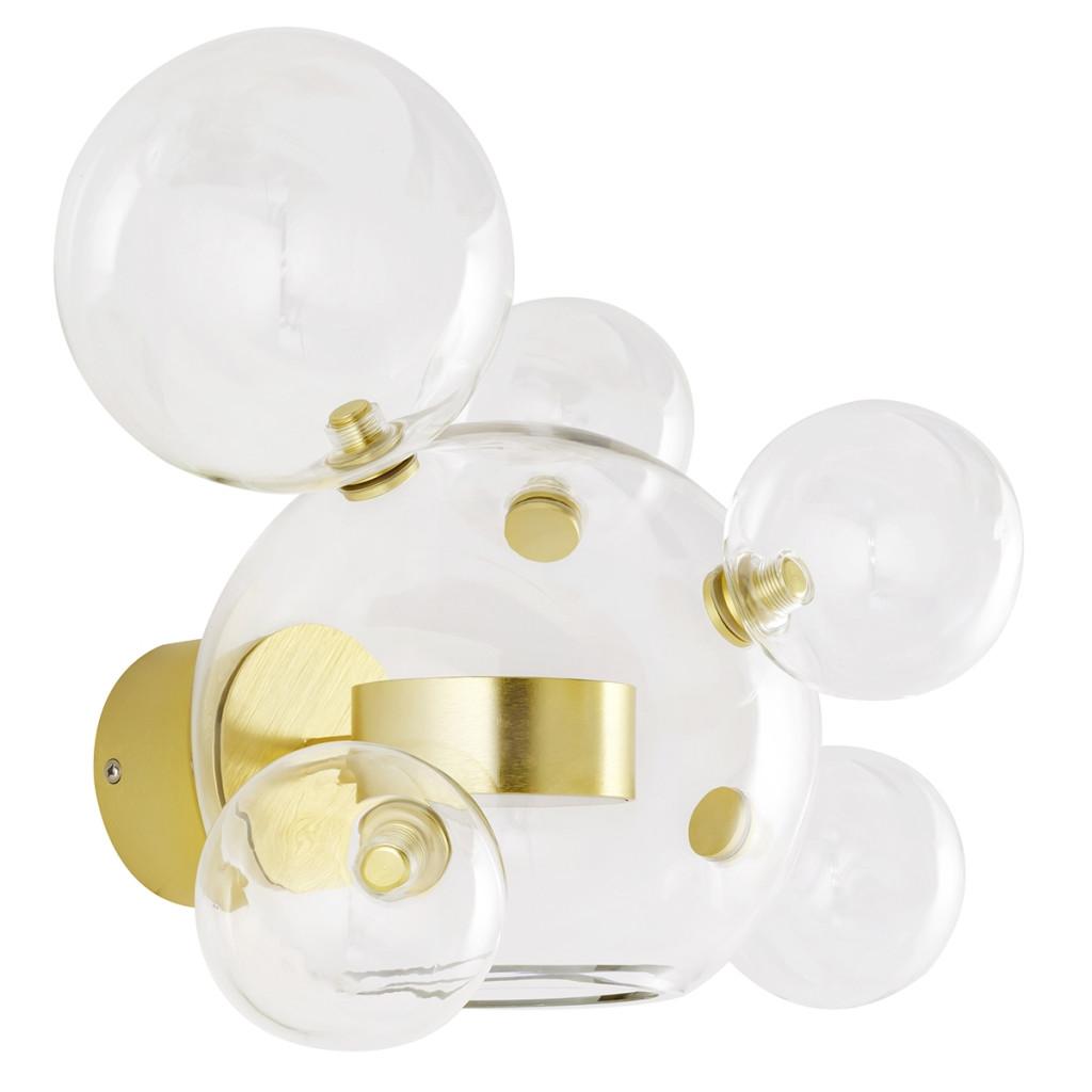 Kinkiet CAPRI WALL 6 złoty - LED, aluminium, szkło
