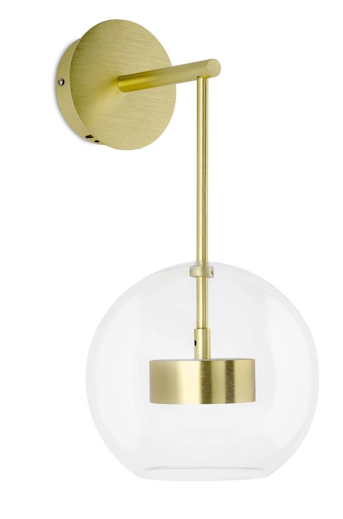 Kinkiet CAPRI WALL złoty - LED, aluminium, szkło