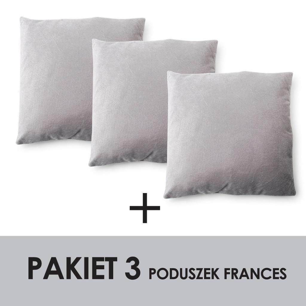 PAKIET FRANCES Kpl.3 poduszek 45x45cm    100% polyester