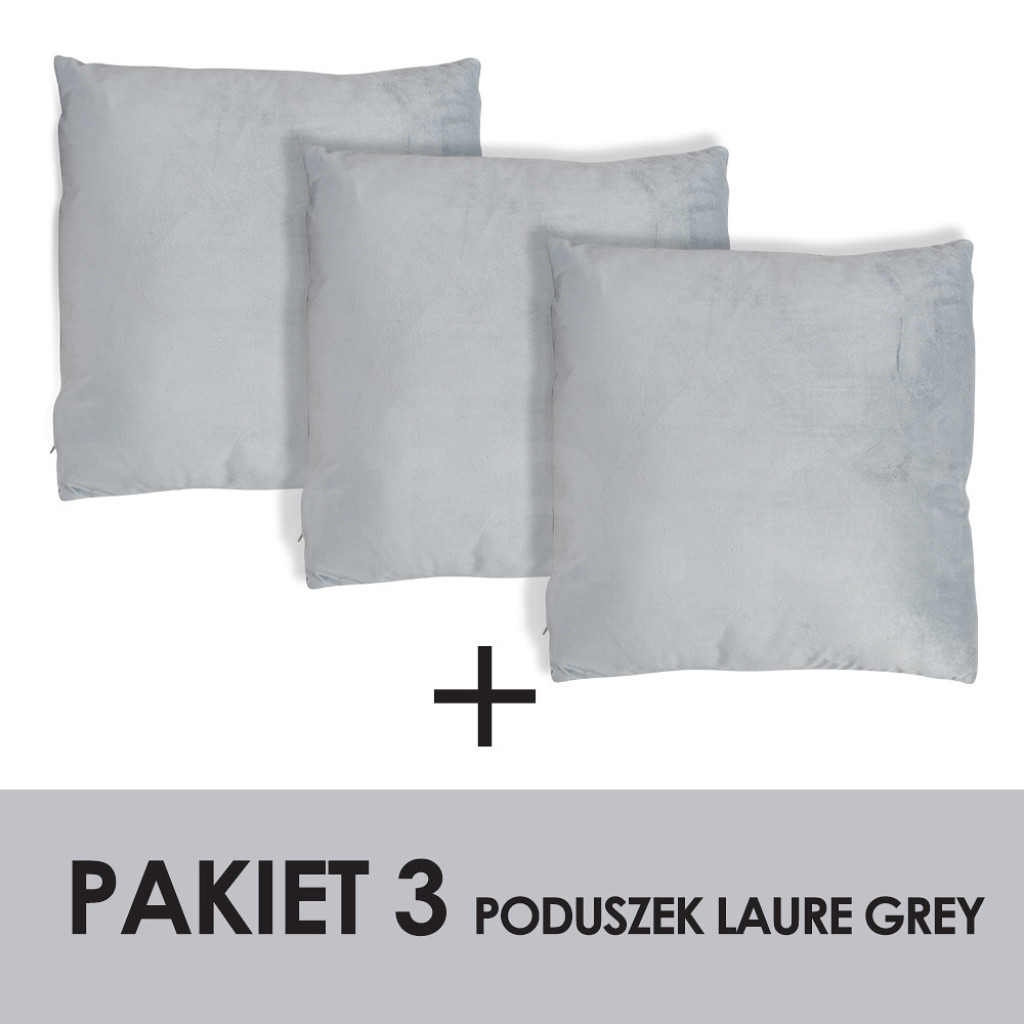 PAKIET LAURE GREY Kpl.3 poduszek 45x45cm