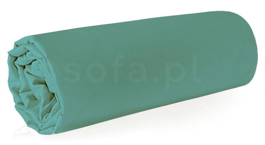Prześcieradło NOVA 220x200+30cm miętowe  z gumką