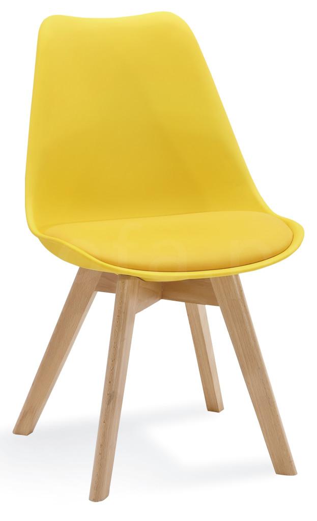 """Krzesło """"ALIS"""" żółte"""