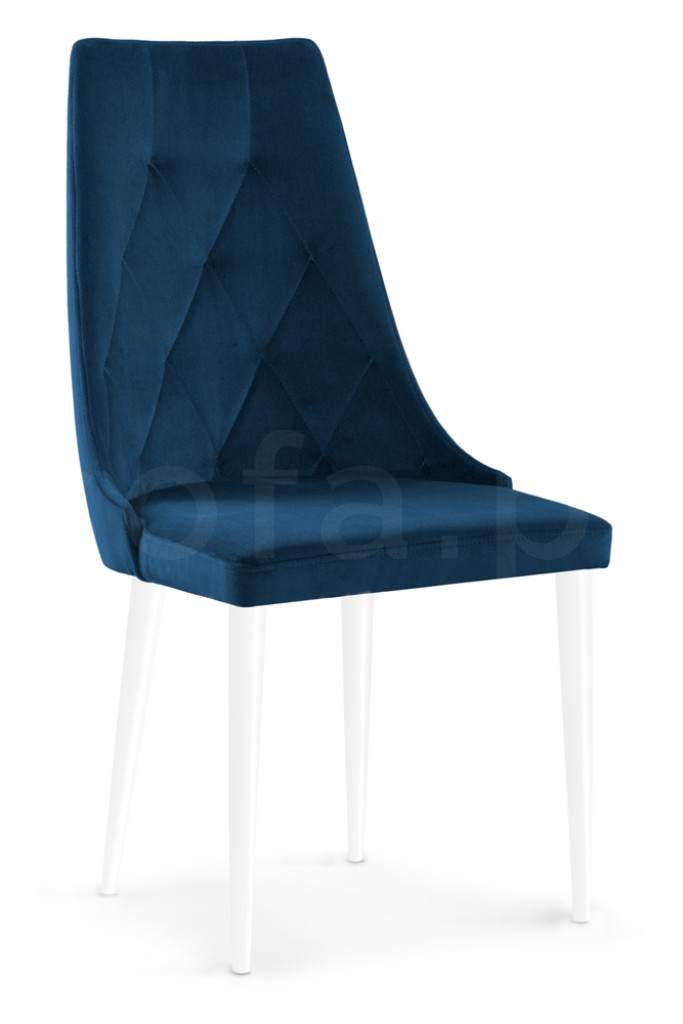 """Krzesło """"ALBENA"""" białe nogi"""