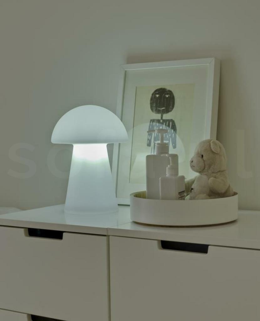 NEW GARDEN lampa stołowa MAFALDA B biała - LED, wbudowana bateria