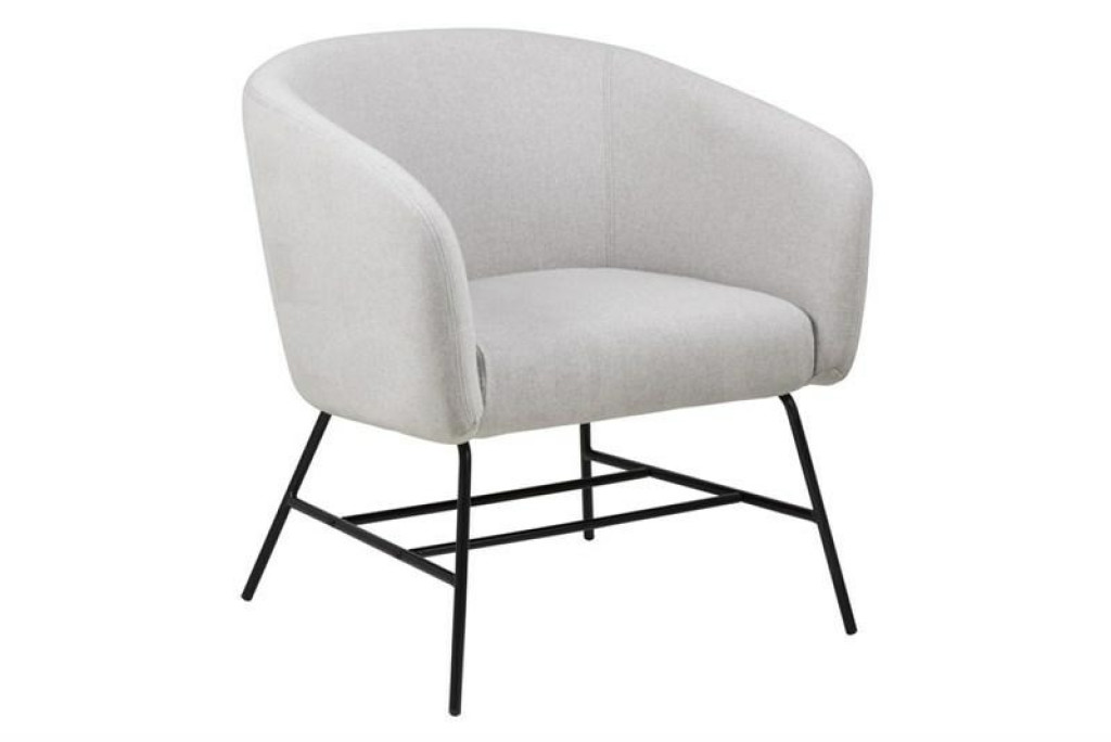 ACTONA fotel RAMSEY  - jasny szary, nogi czarne