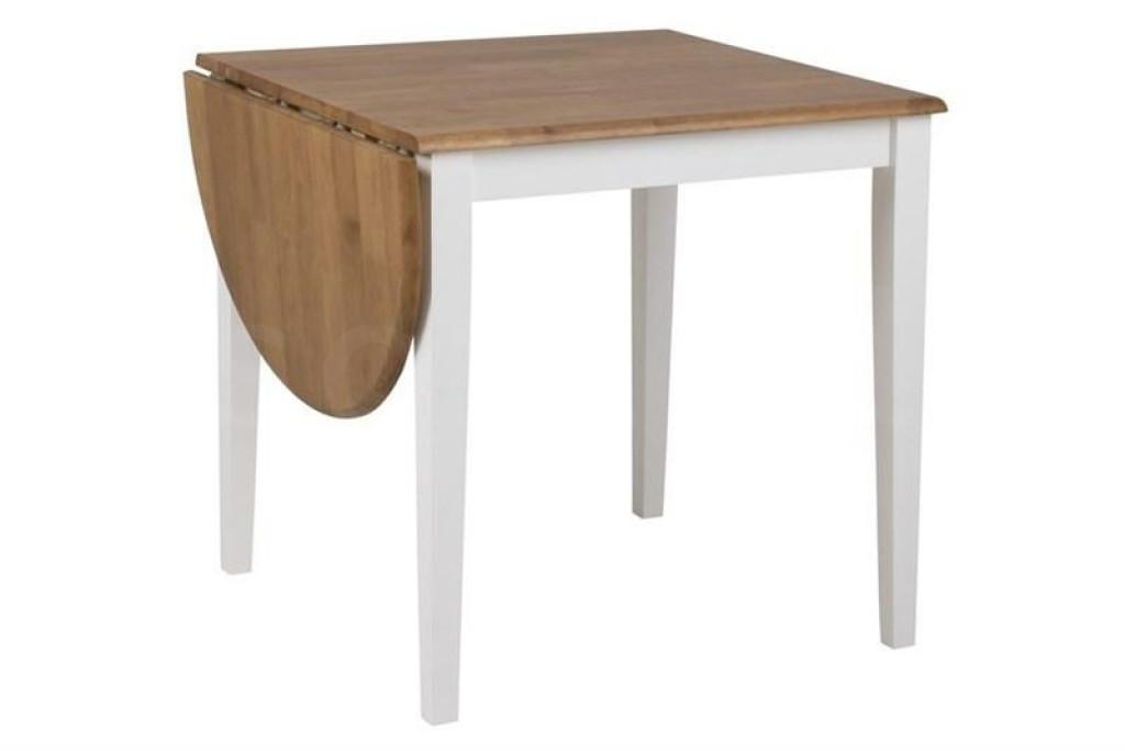 ACTONA stół rozkładany BRISBANE 75-115 - nogi białe