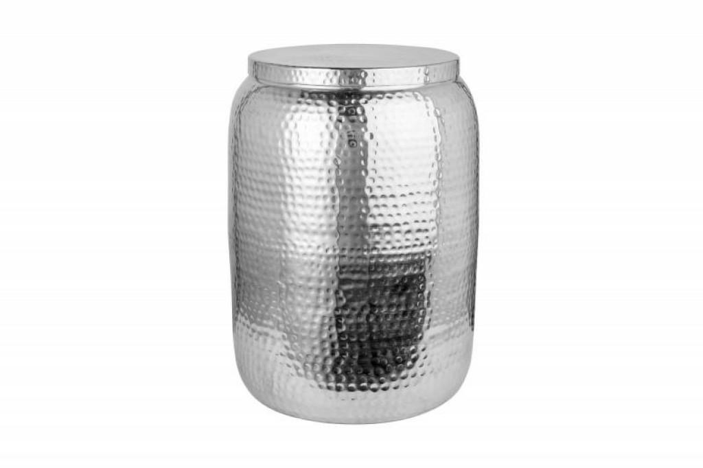 INVICTA stolik ORIENT STORAGE 35cm  srebrny - aluminum, metal