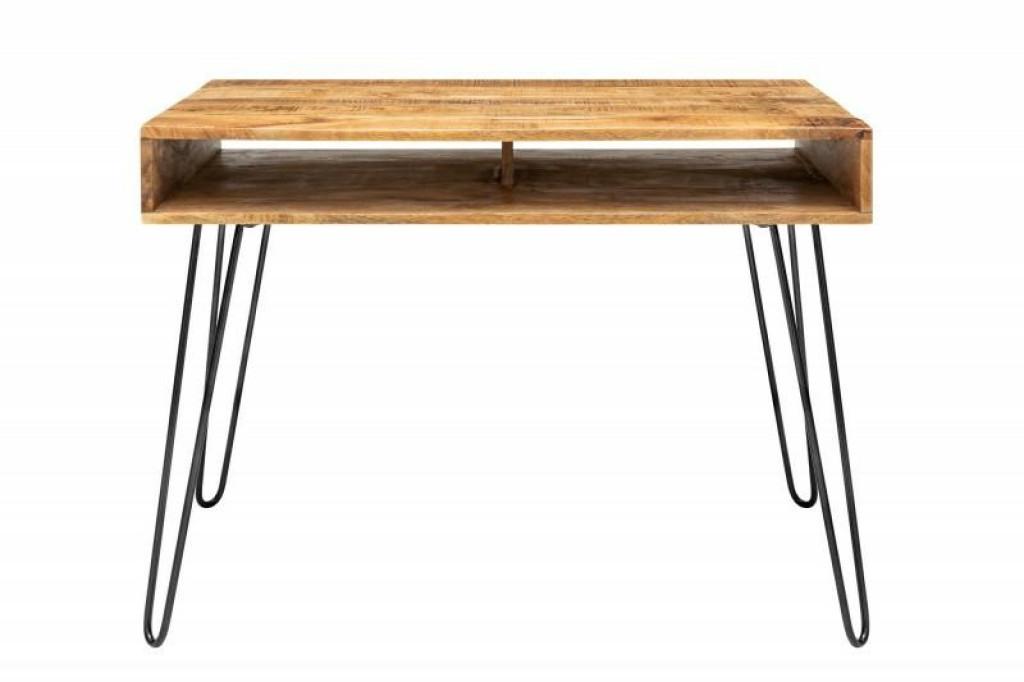 INVICTA biurko SCORPION 100 cm naturalne - mango, drewno, metal