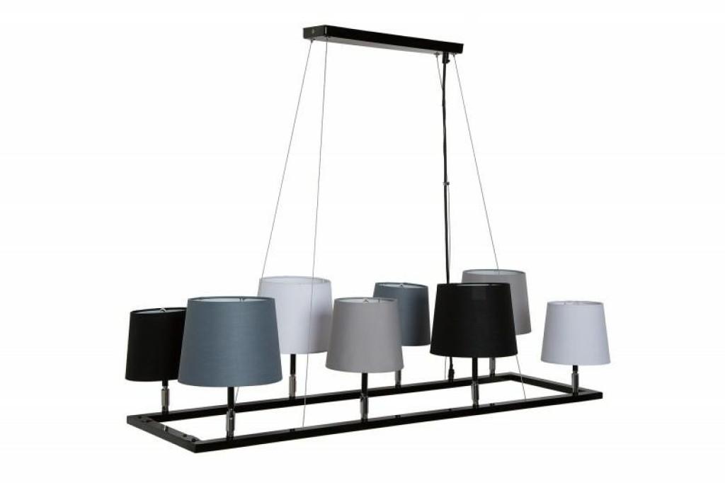 INVICTA lampa wisząca LEVELS 3  - czarno-szara-biała