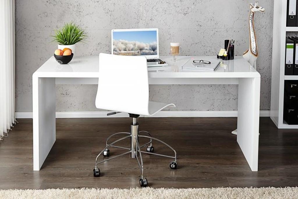 INVICTA biurko FAST TRADE 120 cm białe - płyta MDF