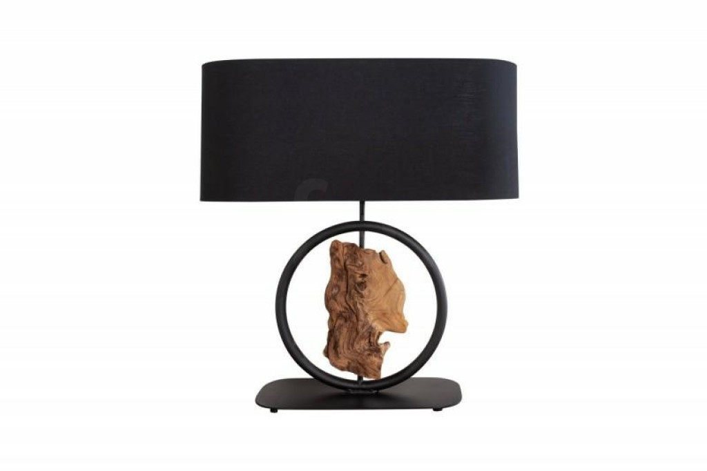 INVICTA lampa biurkowa ELEMENTS  - czarna akacja