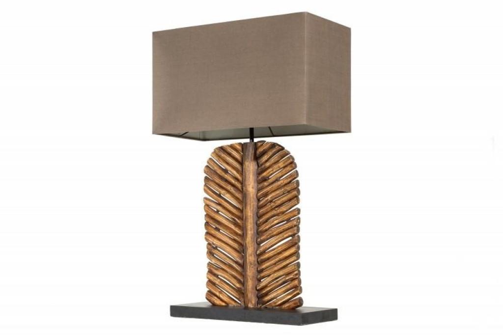 INVICTA lampa biurkowa LEAF  - brąz