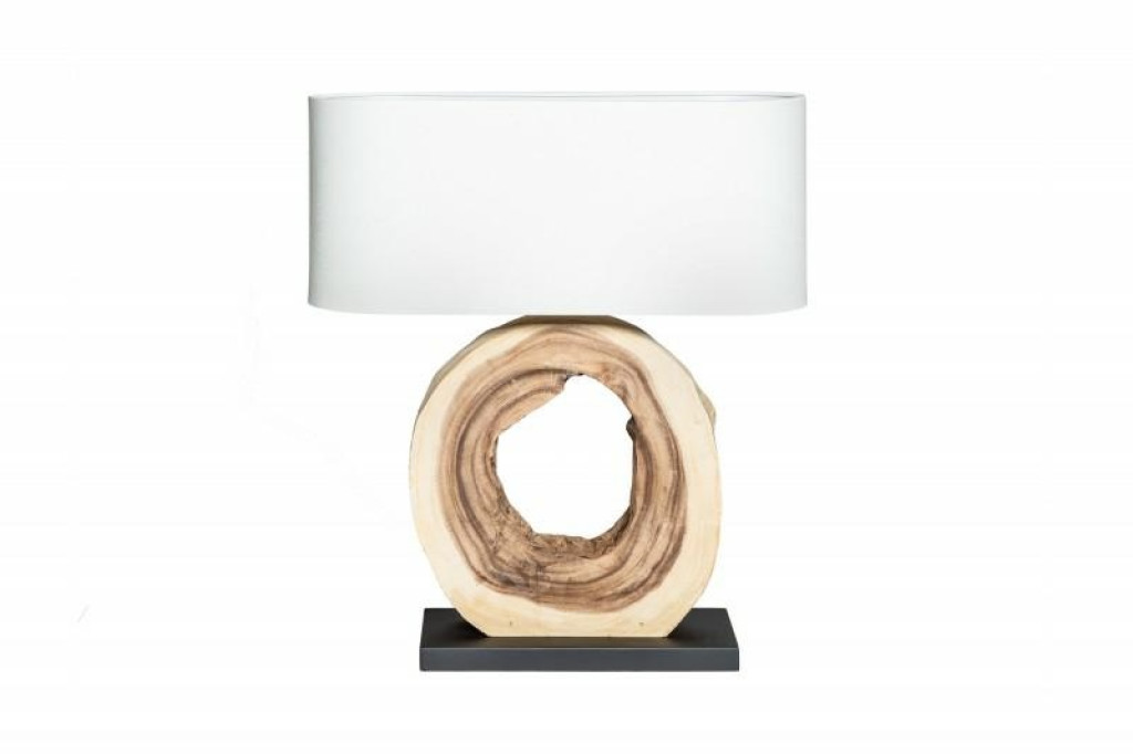 INVICTA lampa biurkowa ORGANIC ARTWORK55 - orzech włoski