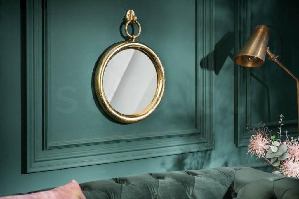 INVICTA Portrait lustro wiszące PORTRET 30 cm , złote - metal , szkło