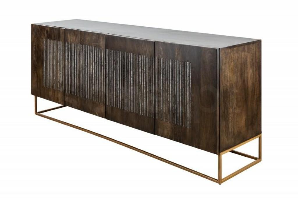 INVICTA komoda ONYX 177 cm Mango - drewno naturalne, metal