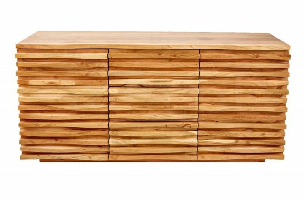 INVICTA komoda RELIEF 160 cm akacja - drewno naturalne
