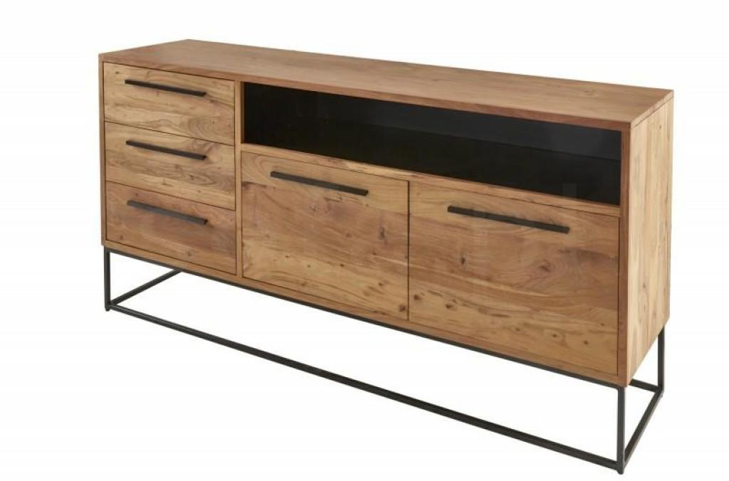 INVICTA komoda STRAIGHT 165 cm Akacja - drewno naturalne, metal