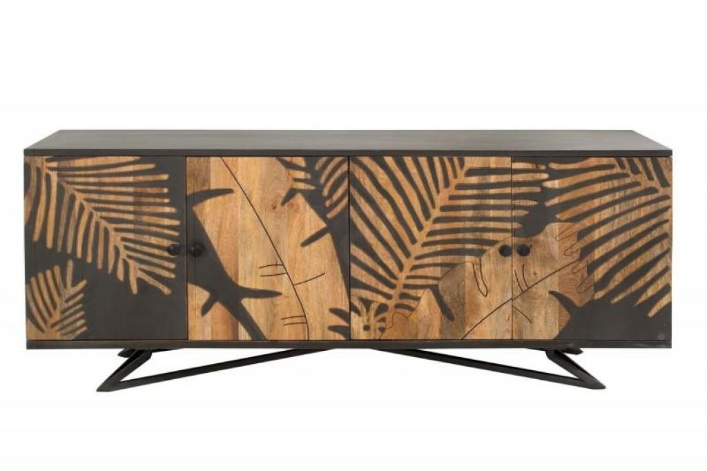 INVICTA komoda TROPICAL 175 cm Mango - drewno naturalne, metal